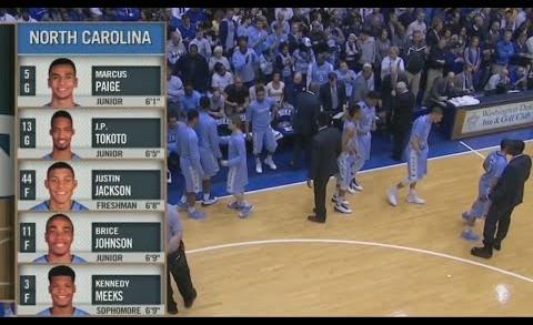 full basketball: Duke Blue Devils x North Carolina Tar Heels 18/02/15