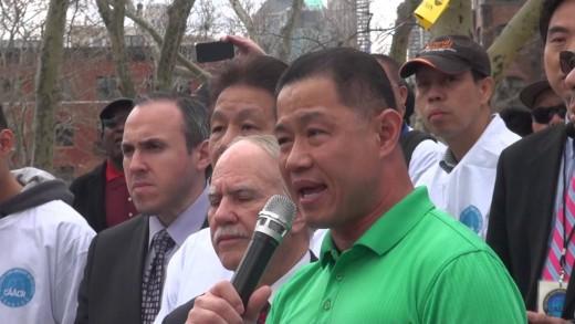 John Liu at Chinese Pro-Peter Liang Rally